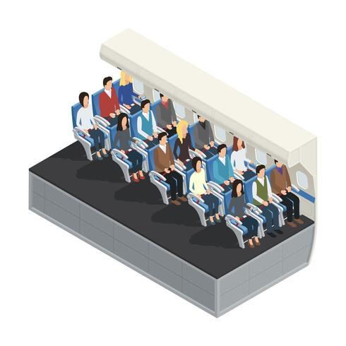 Airplane Interior Isometric Concept