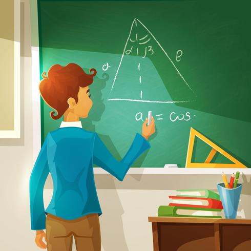 Geometry Lesson Cartoon Illustration  vector