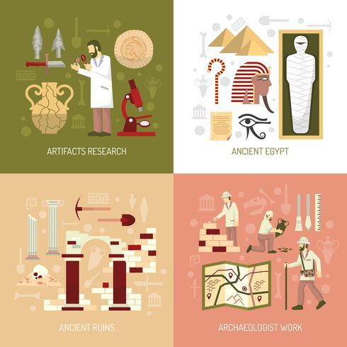 Illustration de concept d'archéologie