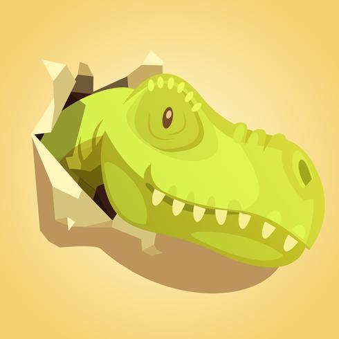 Dinosaurier-Kopf, Hintergrunddruck heraus knallend