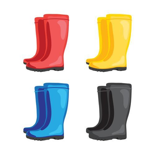 diseño de colección de vector de botas