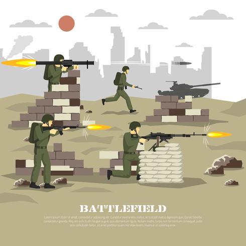 Battlefield Militär Cinematisk Erfarenhet Plattaffisch vektor