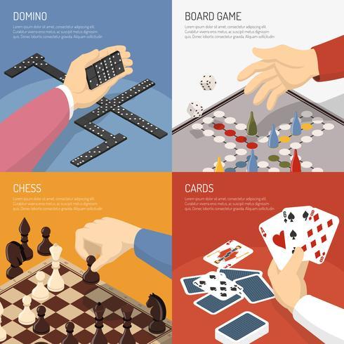 Concept de design de jeux de société vecteur
