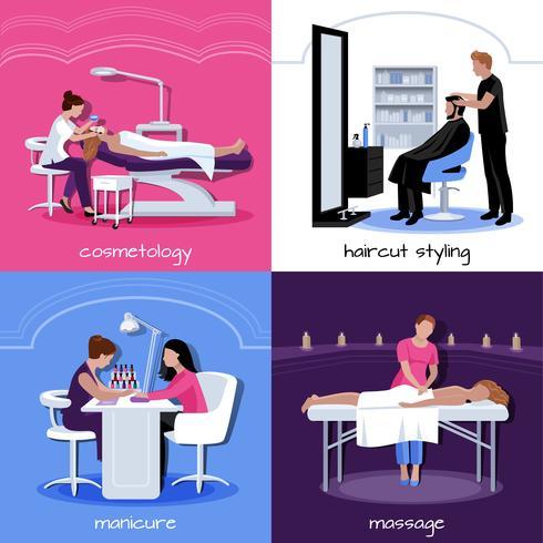 Beauty Salon People Concept