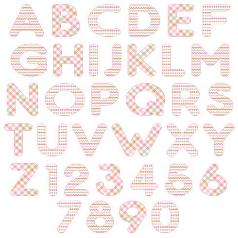 alphabet orange rose vecteur