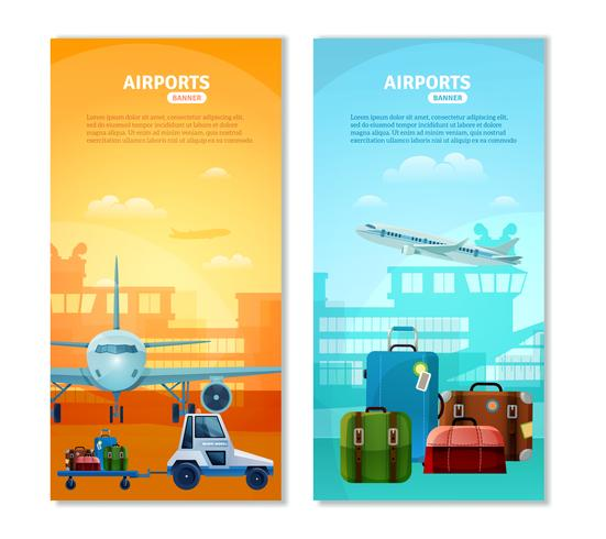 Airport Vertical Banners vector
