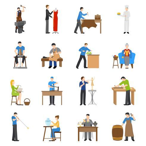 Handwerker Icons Flat