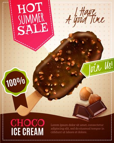 Ice Cream Summer Sale Illustratie