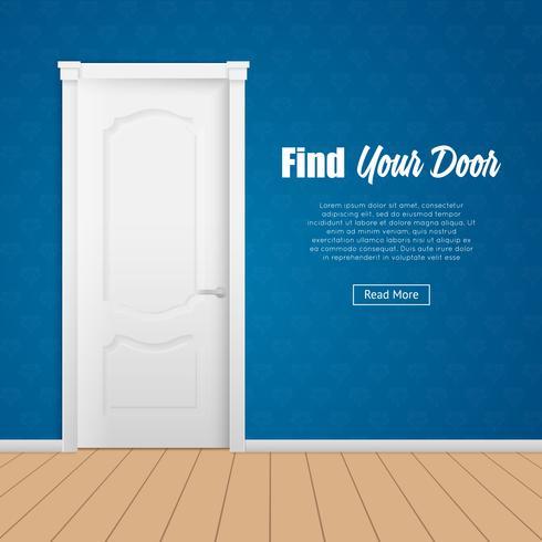 Página da porta da casa vetor