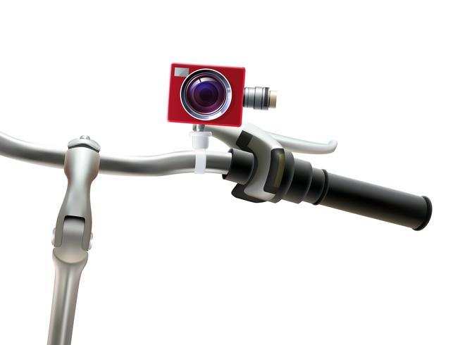Illustrazione realistica della macchina fotografica del manubrio