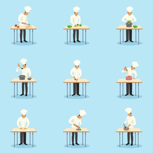 Cozinheiro, profissão, ícones, jogo