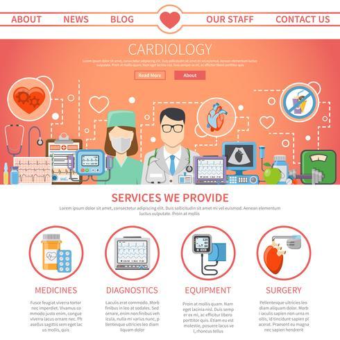Página plana de cardiología