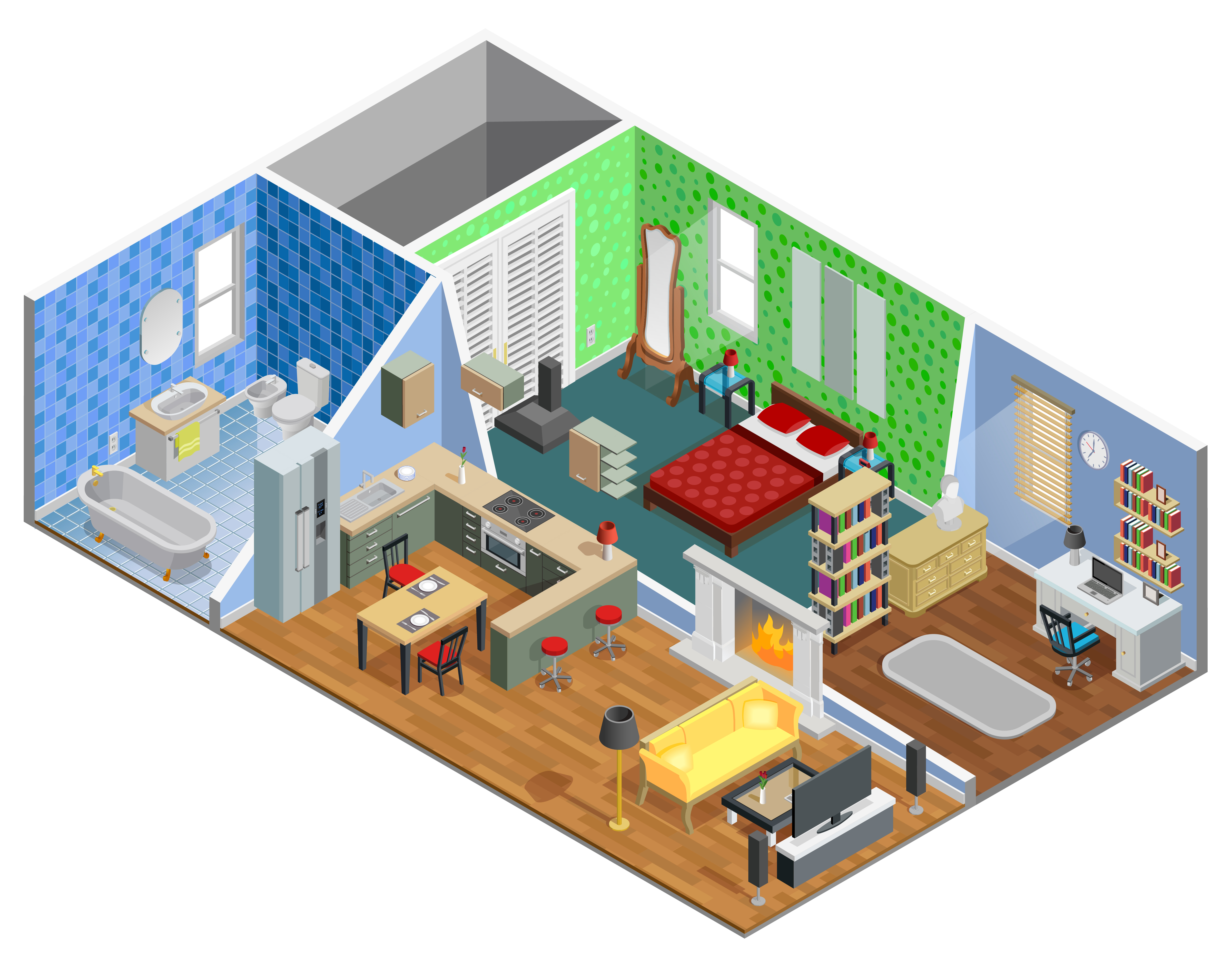 House Interior Design - Download Free Vectors, Clipart ...