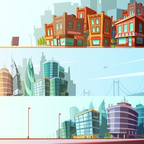 Ensemble de bannières horizontales City Skyline 3