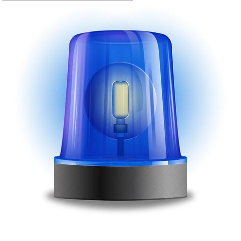 elemento di design della sirena lampeggiante