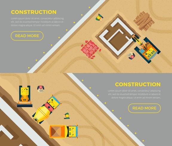Set di banner di costruzione vettore