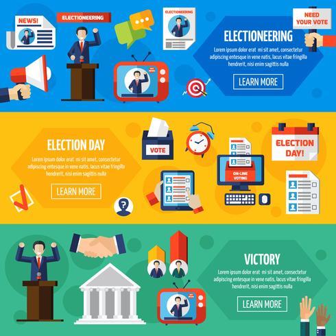 Elezioni e voto banner piatto