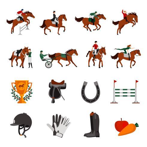 Häststigande sportikoner vektor