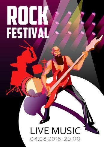 poster del fumetto festival rock vettore