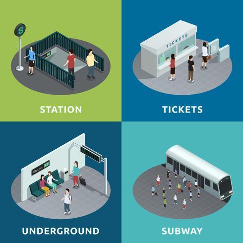 Projeto isométrico de metrô