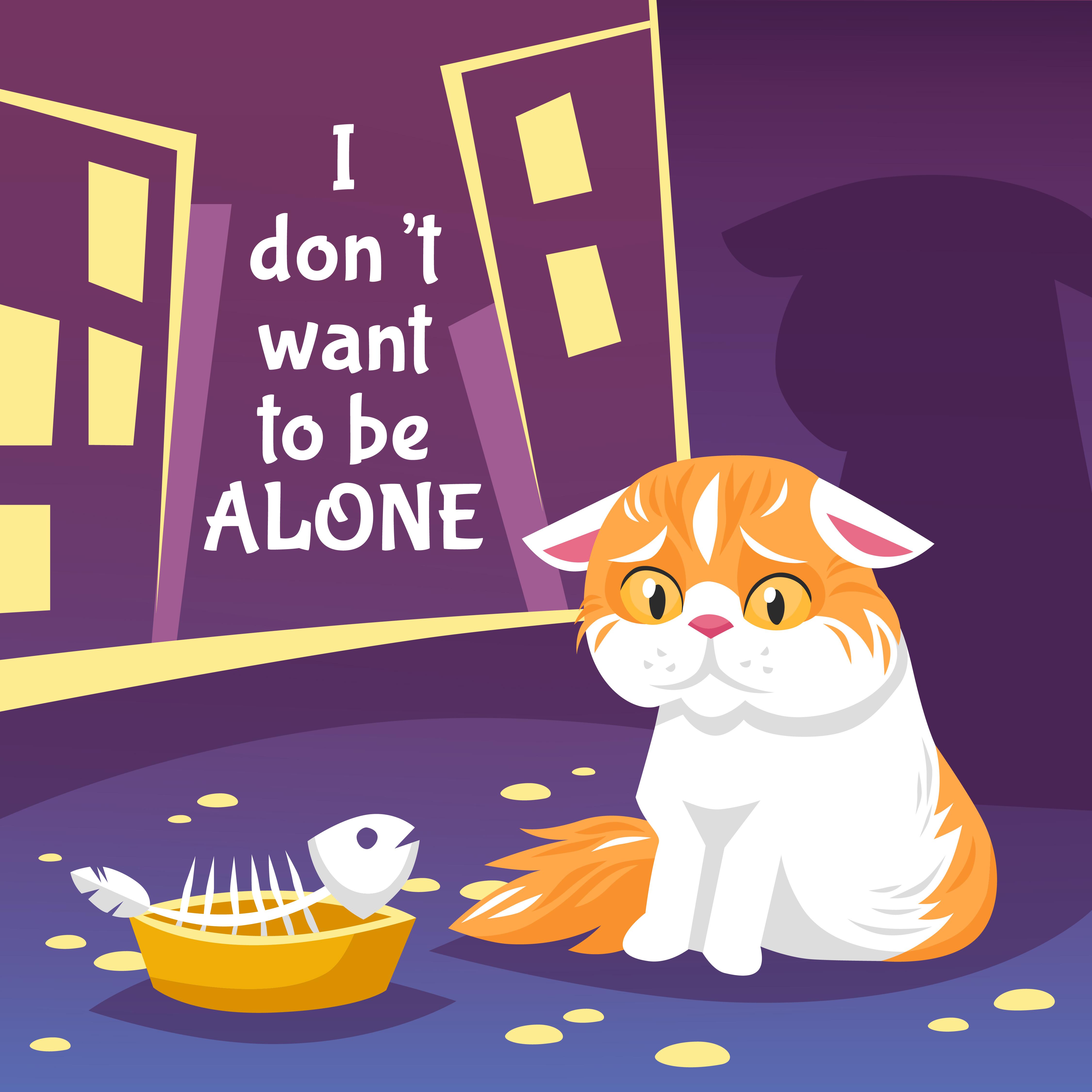 Homeless Cat Illustration 477001