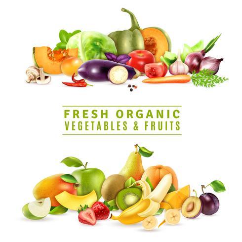 Färska grönsaker och frukter Design Concept
