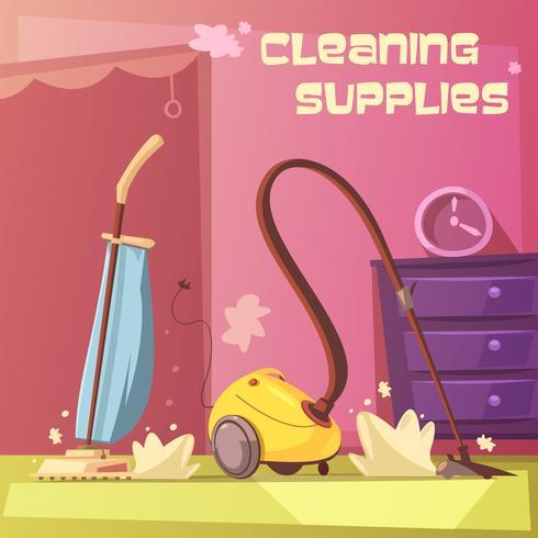 Illustrazione delle attrezzature per la pulizia