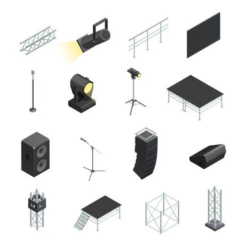 Icons Set Bühnenelemente