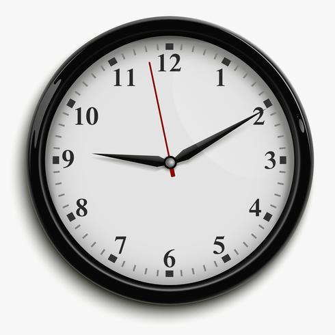 Ilustración de reloj de oficina vector