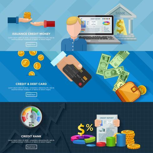 Banners Horizontais de Rating de Crédito