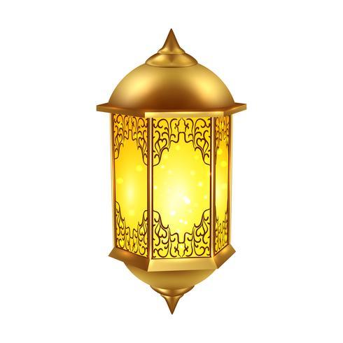 Ícone de lâmpada de Ramadã realista