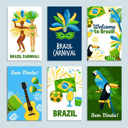 Set di poster brasiliani vettore