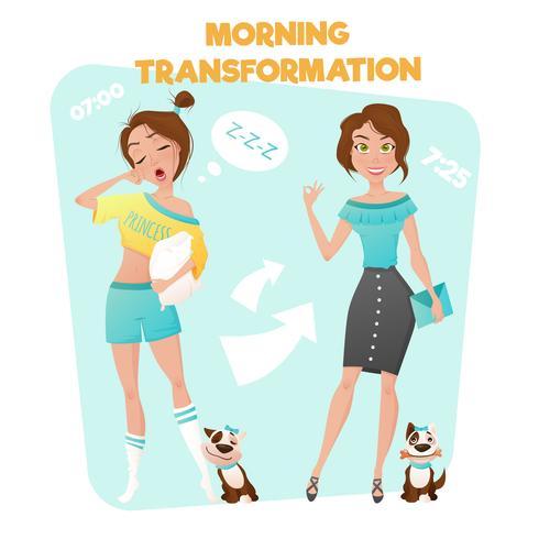 Morgen Mädchen Transformation Poster