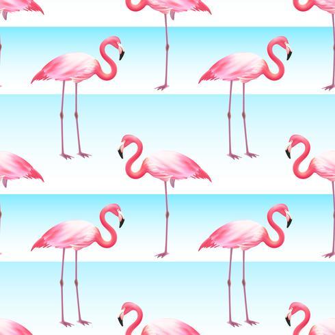 Patrón de rayas horizontales inconsútil flamenco rosado