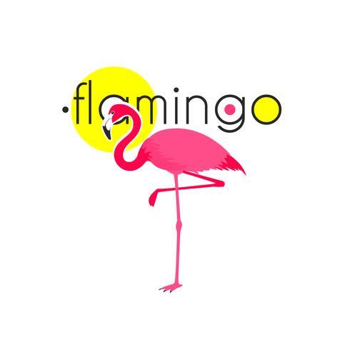 Pink Flamingo Resort Emblem Platt Ikon