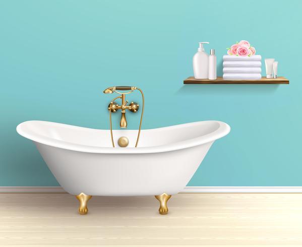 Cartel interior coloreado baño