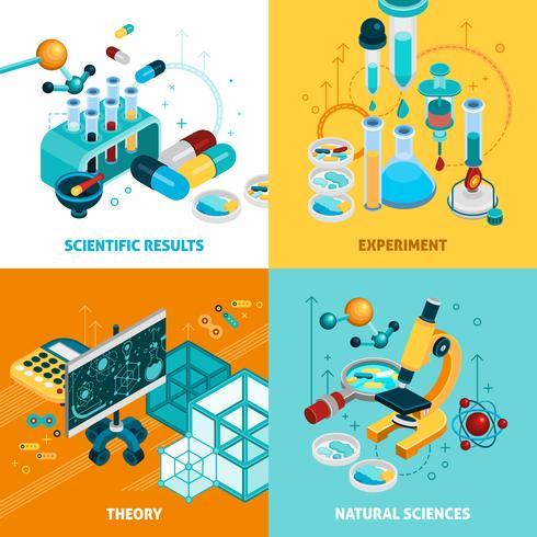 Science Concept Icons Set  vector