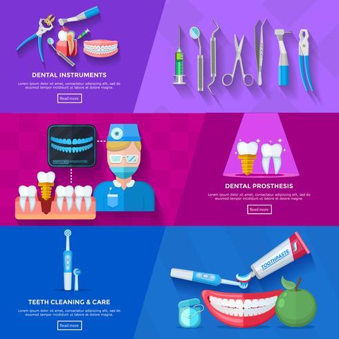 Dentista de bandera plana
