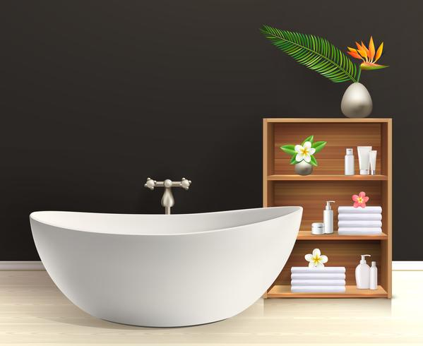 Interior de casa de banho com móveis
