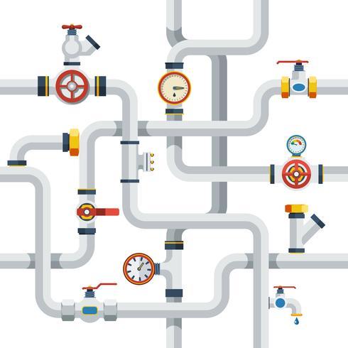 Ilustración del concepto de tuberías vector