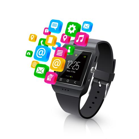Smartwatch Applications Tarefas Conceito llustration