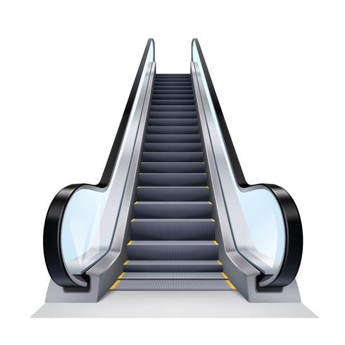 Ilustração realista de escada rolante