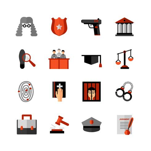 Legal Legal Flat Icon Set