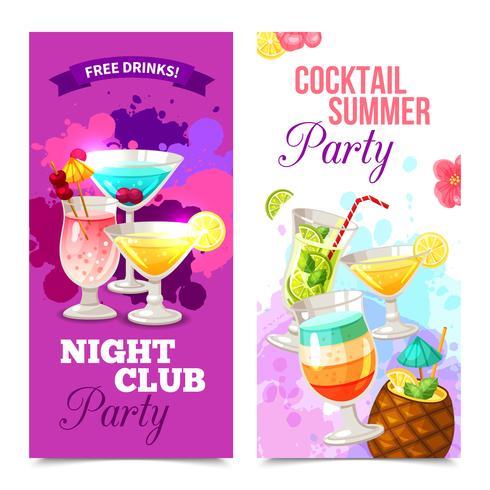 Banners de festa de coquetéis