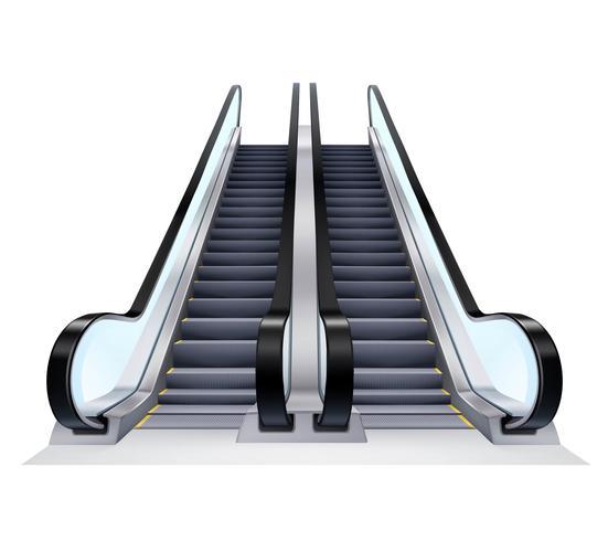 Set d'escalators haut et bas