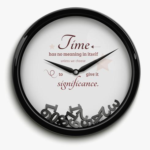 Ilustración de tiempo detenido vector
