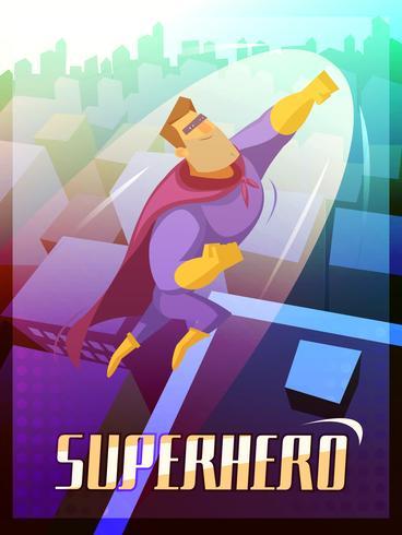 Ilustración de cartel de superhéroe vector