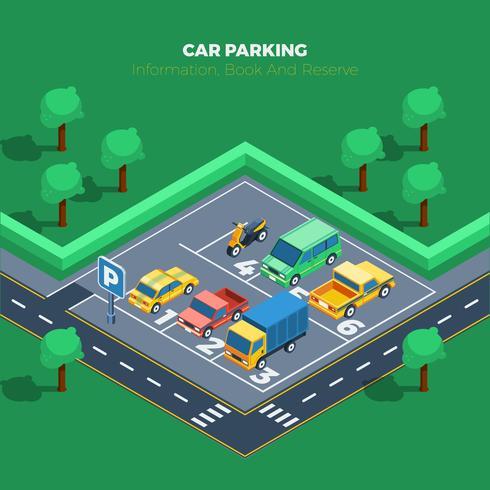 Auto-Parken-Illustration