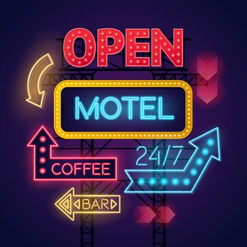 Insegne al neon Motel Cafe & Bar