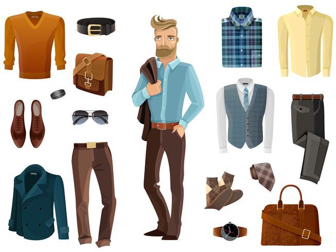 set uomo della moda